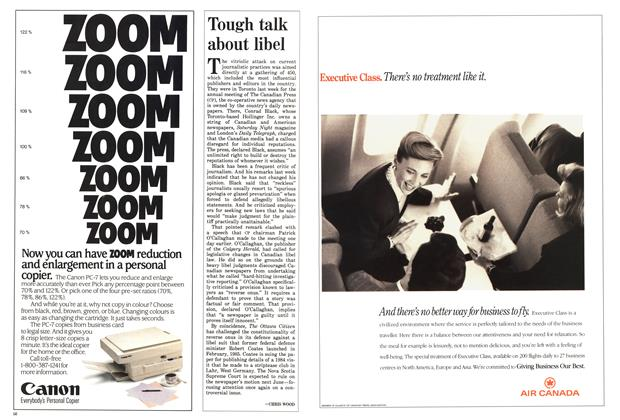 Article Preview: Tough talk about libel, May 1988 | Maclean's