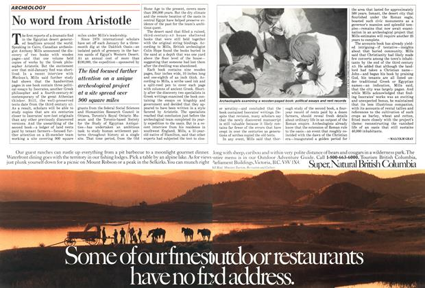 Article Preview: No word from Aristotle, May 1988 | Maclean's