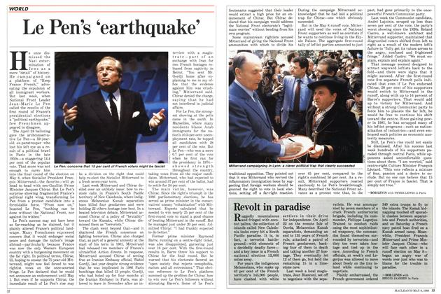 Article Preview: Le Pen's 'earthquake', May 1988 | Maclean's
