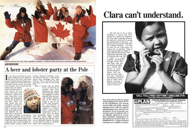 Article Preview: A beer and lobster party at the Pole, May 1988 | Maclean's