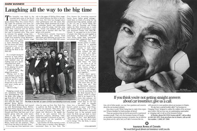 Article Preview: Laughing all the way to the big time, May 1988 | Maclean's