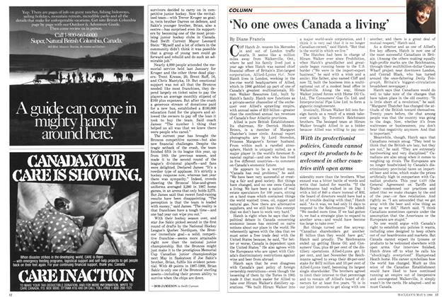 Article Preview: 'No one owes Canada a living', May 1988 | Maclean's