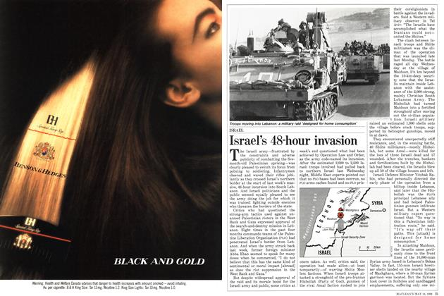 Article Preview: Israel's 48-hour invasion, May 1988 | Maclean's