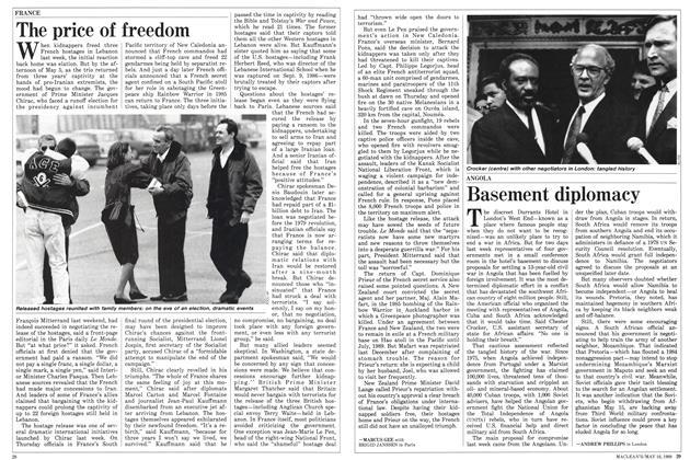Article Preview: Basement diplomacy, May 1988 | Maclean's