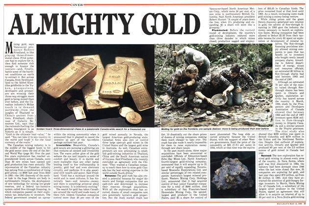 Article Preview: ALMIGHTY GOLD, May 1988 | Maclean's