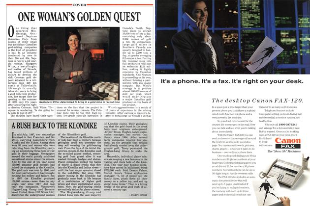 Article Preview: ONE WOMAN'S GOLDEN QUEST, May 1988 | Maclean's