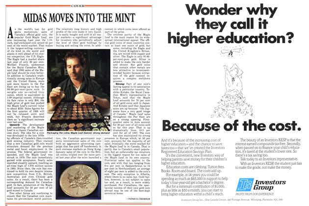 Article Preview: MIDAS MOVES INTO THE MINT, May 1988 | Maclean's