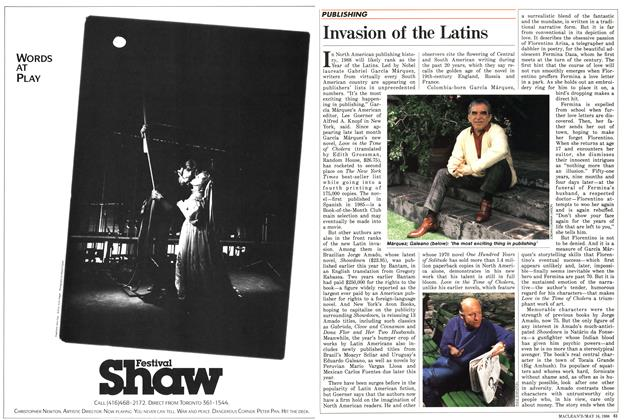 Article Preview: Invasion of the Latins, May 1988 | Maclean's
