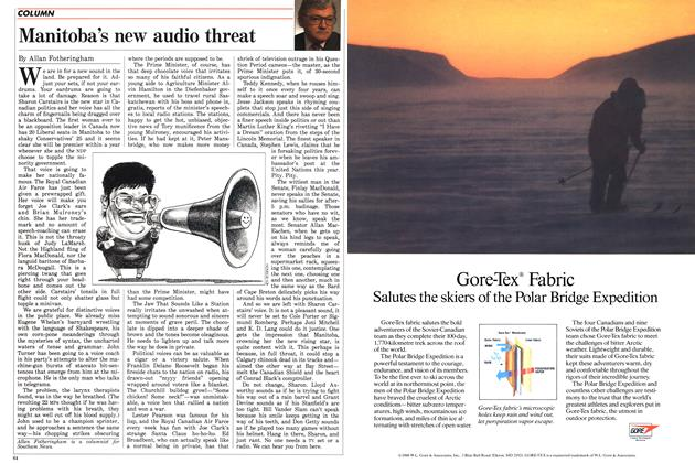 Article Preview: Manitoba's new audio threat, May 1988 | Maclean's