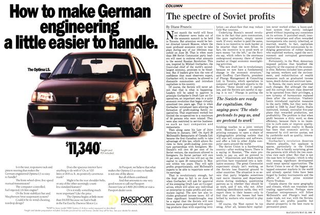 Article Preview: The spectre of Soviet profits, May 1988 | Maclean's