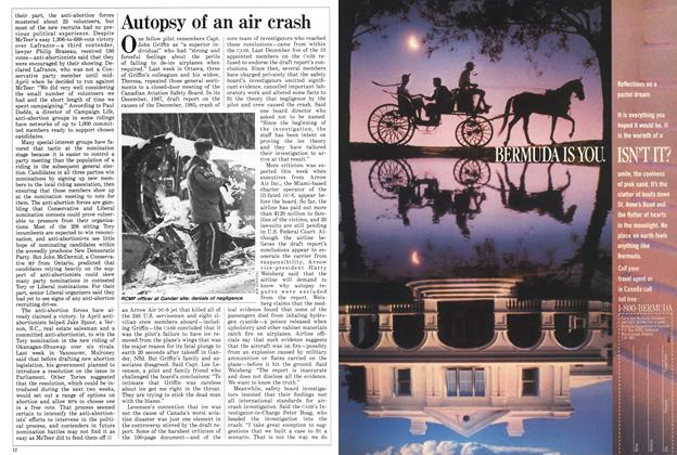 Article Preview: Autopsy of an air crash, May 1988 | Maclean's