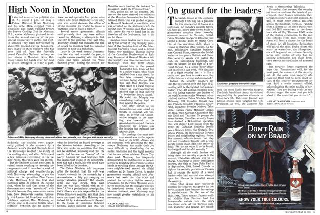 Article Preview: On guard for the leaders, May 1988 | Maclean's