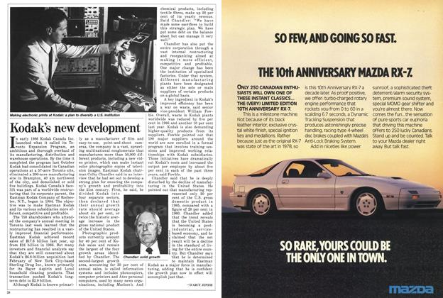 Article Preview: Kodak's new development, May 1988 | Maclean's