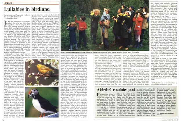 Article Preview: Lullabies in birdland, May 1988 | Maclean's