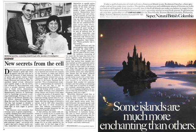 Article Preview: New secrets from the cell, May 1988 | Maclean's