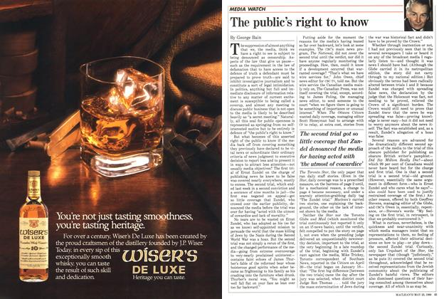 Article Preview: The public's right to know, May 1988 | Maclean's