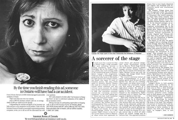 Article Preview: A sorcerer of the stage, May 1988 | Maclean's