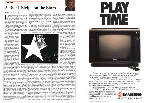 Article Preview: A Black Stripe on the Stars, May 1988 | Maclean's