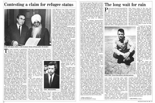 Article Preview: Contesting a claim for refugee status, May 1988 | Maclean's