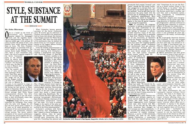 Article Preview: STYLE, SUBSTANCE AT THE SUMMIT, May 1988 | Maclean's