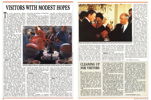Article Preview: CLEANING UP FOR VISITORS, May 1988 | Maclean's