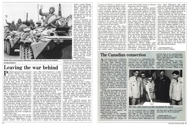 Article Preview: Leaving the war behind, May 1988 | Maclean's