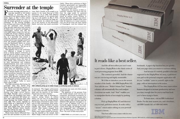 Article Preview: Surrender at the temple, May 1988 | Maclean's