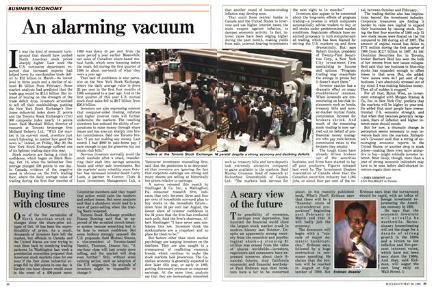 Article Preview: An alarming vacuum, May 1988 | Maclean's