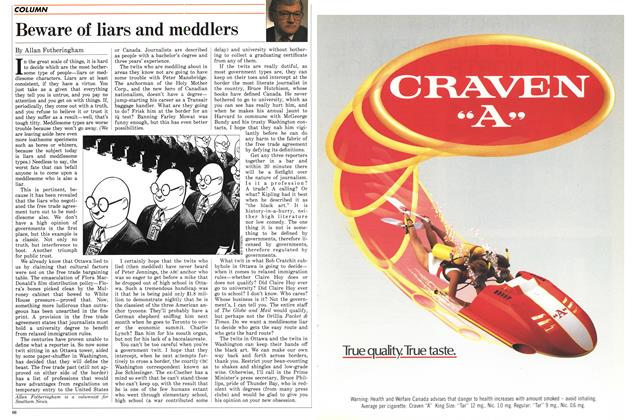 Article Preview: Beware of liars and meddlers, May 1988 | Maclean's