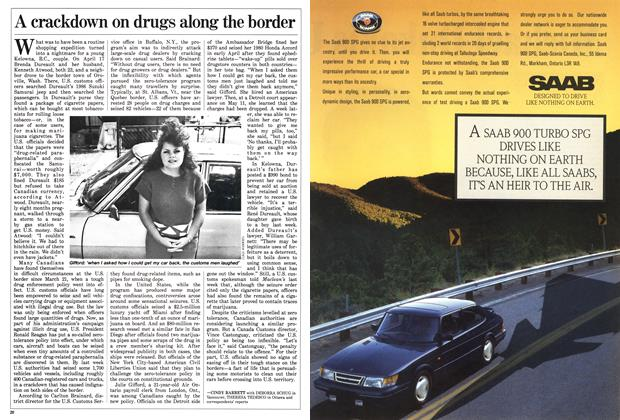 Article Preview: A crackdown on drugs along the border, June 1988 | Maclean's