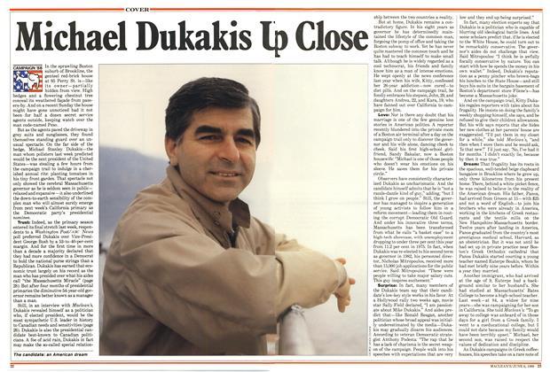 Article Preview: Michael Dukakis Up Close, June 1988 | Maclean's