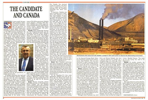 Article Preview: THE CANDIDATE AND CANADA, June 1988 | Maclean's