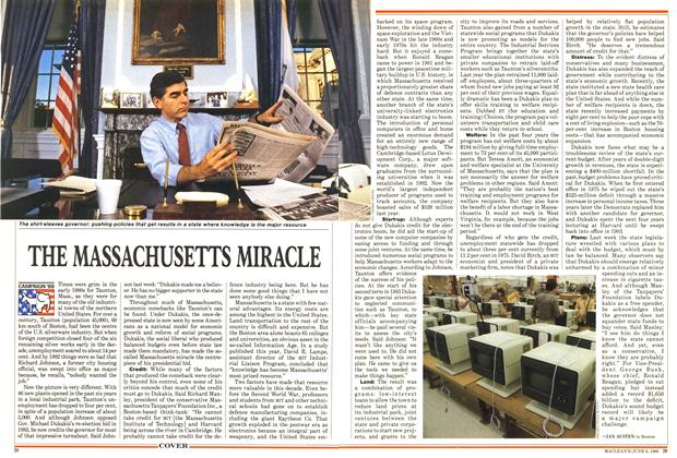 Article Preview: THE MASSACHUSETTS MIRACLE, June 1988 | Maclean's