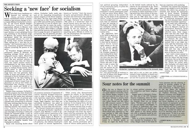 Article Preview: Sour notes for the summit, June 1988 | Maclean's