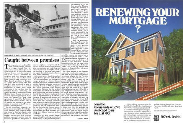 Article Preview: Caught between promises, June 1988 | Maclean's