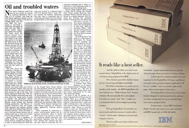 Article Preview: Oil and troubled waters, June 1988 | Maclean's