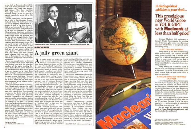 Article Preview: A jolly green giant, June 1988 | Maclean's