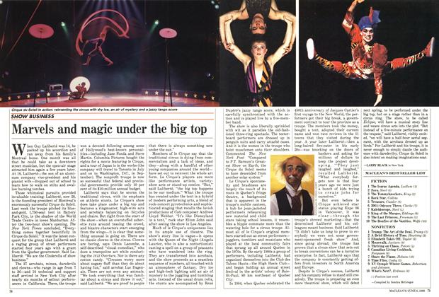 Article Preview: Marvels and magic under the big top, June 1988 | Maclean's