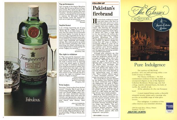 Article Preview: Pakistan's firebrand, June 1988 | Maclean's