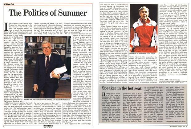 Article Preview: Speaker in the hot seat, June 1988 | Maclean's