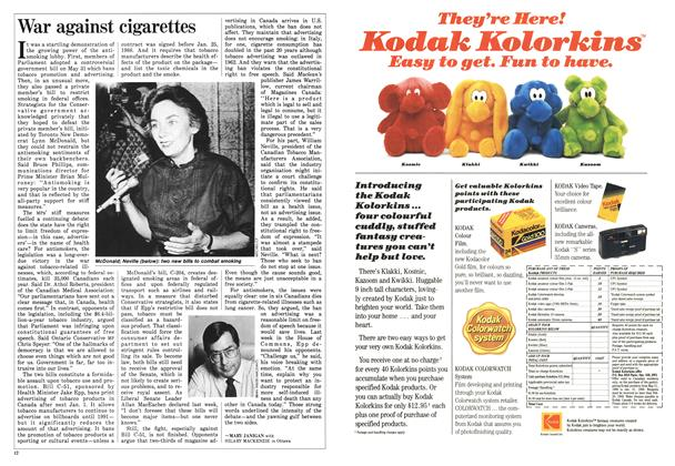 Article Preview: War against cigarettes, June 1988 | Maclean's