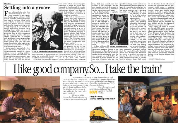 Article Preview: Settling into a groove, June 1988 | Maclean's