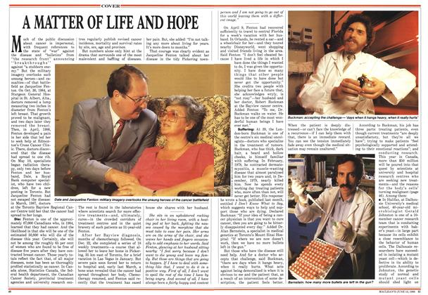 Article Preview: A MATTER OF LIFE AND HOPE, June 1988 | Maclean's