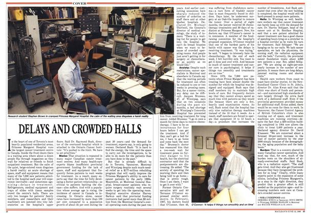 Article Preview: DELAYS AND CROWDED HALLS, June 1988 | Maclean's