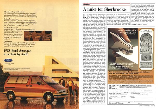 Article Preview: A nuke for Sherbrooke, June 1988 | Maclean's