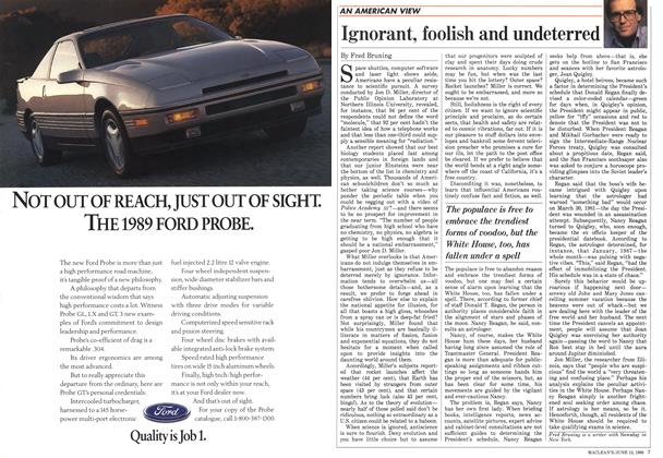 Article Preview: Ignorant, foolish and undeterred, June 1988 | Maclean's