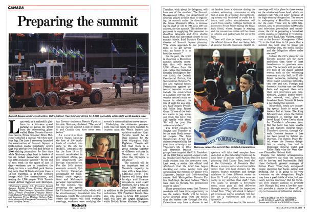 Article Preview: Preparing the summit, June 1988 | Maclean's