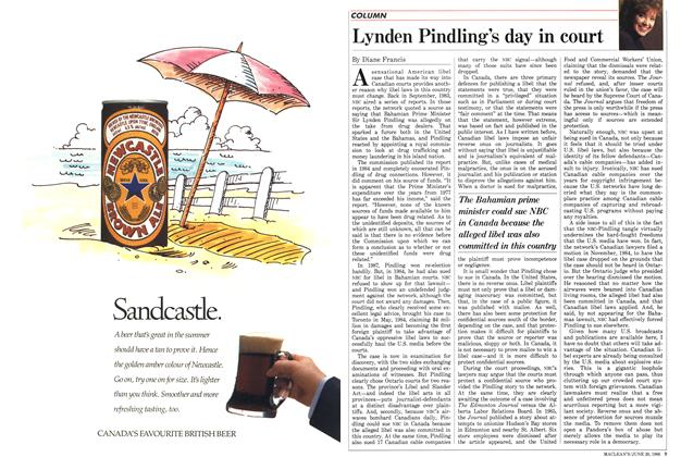 Article Preview: Lynden Pindling's day in court, June 1988 | Maclean's