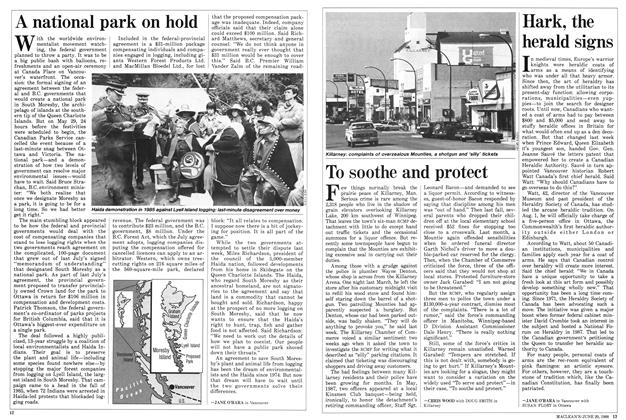 Article Preview: Hark, the herald signs, June 1988 | Maclean's