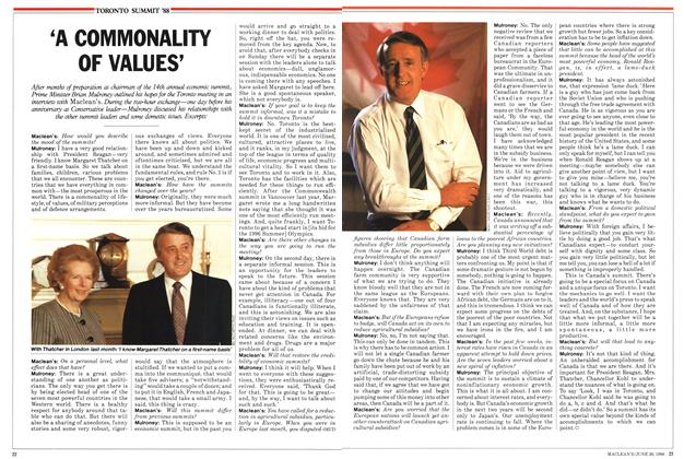 Article Preview: 'A COMMONALITY OF VALUES', June 1988 | Maclean's